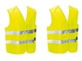 2 Gilets de sécurité pour piétons, cycliste, motocycliste ou à placer dans la voiture. Homologué EN471. Grande taille unique