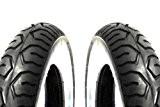 2x Mitas MC12Pneu Blanc mural de pneus 3.00-10pouces TL/TT pour Vespa V pk 50N XL Special