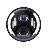 "7 ""7 pouces 60W CREE Assemblée Phare LED avec Halo Angel Ring Eye & DRL & Clignotants pour Jeep Wrangler ..."