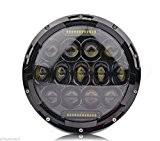 75W 7 pouces LED Phares Ampoule DRL pour Jeep Wrangler JK Hummer H1 H2 Harley Headlamp Driving Lumière