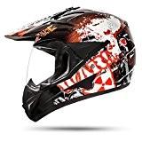 805GS était Black Cross casque avec visière pour casque moto quad ATV Enduro ECE 2205Taille: S à XL