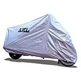 AHL Housse de Protection pour Moto, Couverture Imperméable (Argent,XXXL)