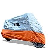 AHL Housse de Protection pour Moto, Couverture Imperméable (Orange,XXXL)