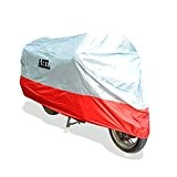 AHL Housse de Protection pour Moto, Couverture Imperméable (Rouge,XXL)