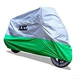 AHL Housse de Protection pour Moto, Couverture Imperméable (Vert,L)