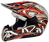 Airoh Casque de Moto pour Cross, Multicolore  (Tag Orange), 56-S