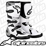 Alpinestars - Bottes cross - TECH 6S YOUTH BOOT - Couleur : Blanc/Gris - Pointure : 5