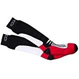 Alpinestars - chaussettes - RACING ROAD SOCKS - Couleur : Noir/Rouge - Taille : S/M