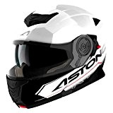 Astone Helmets Casque Modulable RT1200 Touring, Blanc Noir, M