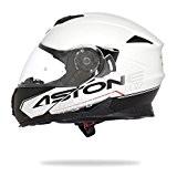 ASTONE RT1200 Casque Modulable Touring Blanc et Noir Verni S 55-56 cm - S 55-56 cm