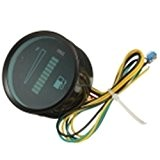 AUDEW 2 ''/ 52mm Voiture Moto Niveau Gauge de Carburant Compteurs en Alliage Aluminium LED Light 12V Bleu