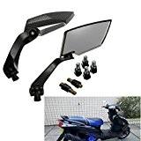 AUDEW Universal 8m 10mm Moto Rétroviseur Arrière Vue latérale Miroirs pour Yamaha Honda Suzuki