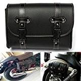 AUDEW Universal Moto Selle Pouch Sac Rangement Tool Cuir Pour Harley Davidson