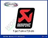 Autocollant AKRAPOVIC 80 degrés 7x7,5 Aprilia BMW Honda Yamaha Suzuki Kawasaki Ducati
