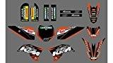 Autocollant Kit déco pour moto cross KTM SX50 SX 50 année 2009 à 2015 Haute Résistance Qualité Premium + offert ...