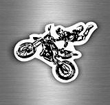 Autocollant sticker biker motard voiture moto motocross cross macbook