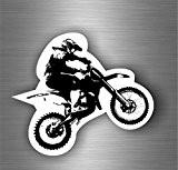 Autocollant sticker biker moto casque circuit motard macbook cross mototcross r3