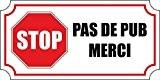 Autocollant sticker macbook laptop voiture moto boite aux a lettre stop pub anti