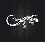 Autocollant sticker voiture moto macbook salamandre lezard gecko tribal tuning B