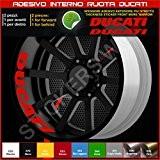 Bandes adhésives pour intérieur de roues Ducati Monster Multistrada Hypermotard, code modèle 0219 031 Rosso