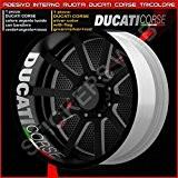 Bandes adhésives pour intérieur de roues Ducati Monster Multistrada Hypermotard, code modèle 0224 090 Argento