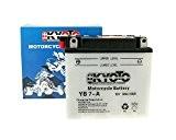Batterie Kyoto 12V CB7-A / 12N7-4A - Piaggio/Vespa PK 50 XL E-Start Autom VA51T année de construction 19