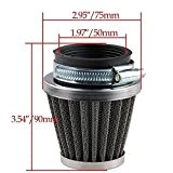Beehive Filter 50mm Air Filter Cleaner For 50cc-110cc Motorcycle ATV dirt Pit Bike Go Kart ovale Metallic Clamp-On refit Intake ...