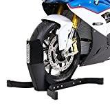 Béquille cale de roue pour Harley Davidson CVO Road King (FLHRSE5) Constands Easy Plus noir mat
