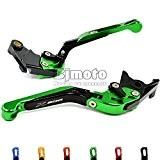 BJ Global 1Paire de leviers d'embrayage de frein réglable pliable extensible pour moto pour Kawasaki, E Version 201320142015