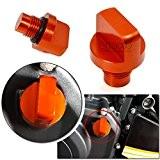 BJ Global Fashion de moto Accessoires Orange CNC Moteur en aluminium magnétique Bouchon de vidange d'huile pour KTM Duke 125/200/390