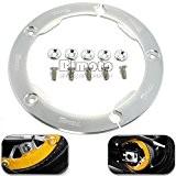 BJ Global Lot de 1nouveau design Tmax Moto Pièces CNC en aluminium Courroie de transmission poulie Housse de protection pour ...