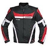 Blouson Oxford Nylon Homme Textile CE Protections Thermique Moto rouge L