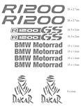 BMW R 1200GS Motorrad Dakar Aventure Moto Stickers, gris