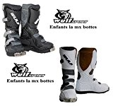 bottes moto enfants Wulf LA JUNIOR Mx quad sport bottes pitbike de course (EU 31, noir)