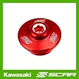 BOUCHON VIS CARTER HUILE KAWASAKI KX KXF 250 450 KLX SUZUKI RMZ TE SM 2011 2012 2013 ROUGE SCAR