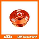BOUCHON VIS CARTER HUILE KTM SX SXF SX-F EXC EXCF SMR 50 65 85 125 250 350 450 ORANGE SCAR