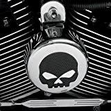 Cache klaxon Skull Willie G. pour Harley Davidson Dyna Sportster Softail Touring