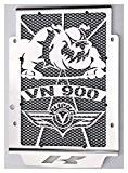 cache radiateur / grille de radiateur inox poli Kawasaki Vulcan 900 VN 2006>2016 toutes versions + grillage anti gravillon noir