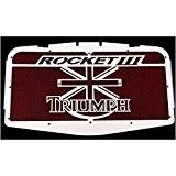 """cache radiateur / grille de radiateur Triumph Rocket 3 """"Union Jack"""" + grillage rouge"""