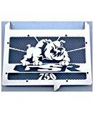 """cache radiateur inox poli Suzuki 750 GSR design """"Bulldog"""" + grillage noir"""