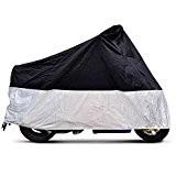 CARCHET® HOUSSE BACHE MOTO Couvre,Moto,Velo,VTT,VTC,Scooter Taille XL 245cm argente noir protection