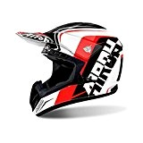 CASCO HELMET CROSS SWITCH SIGN RED GLOSS AIROH TG L