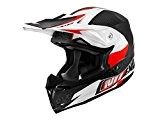 Casque cross adulte NO END Defcon by OCD - Blanc / Rouge - Taille S