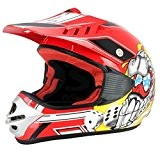 Casque cross enfant S-LINE - ROUGE (L)