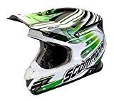 Casque cross moto enduro Scorpion vX 20STARTROOPER Vert Fibre de verre 2intérieures Taille M