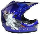 Casque de moto-cross - quad/tout-terrain/BMX - enfant - Bleu - S (53-54 cm)