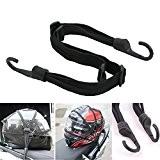 Casque de moto Filet bagages versenkbare 60cm Sangle élastique corde avec crochet pour moto Vélos Roller