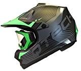 CASQUE de MOTO pour ENFANT avec LUNETTES de Protection Motocross cross NOIR MAT - Vert - S