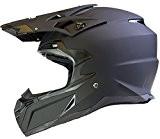 Casque de MOTOCROSS Moto Helm Enduro Quad ATV FMX MTB MX - Noir Mat - L (59-60cm)
