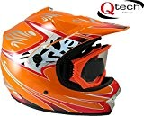 Casque et lunettes protectrices de moto-cross - BMX/tout-terrain - enfant - 7 coloris - Orange - M (55-56 cm)